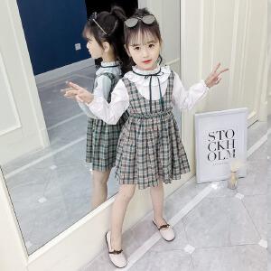 乌龟先森 儿童连衣裙 女童夏季韩版新款棉质圆领无袖碎花公主裙时尚学生款中大童款裙子