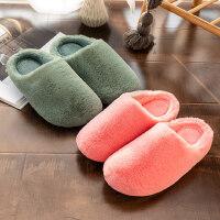 可爱月子鞋产后保暖情侣棉拖鞋女厚底室内家用居家毛毛拖鞋男