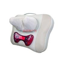 颈椎腰椎按摩器颈部腰部肩部按摩枕多功能家用靠垫全身椅垫 白色