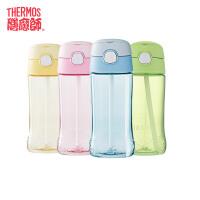 膳魔师/THERMOSTritan材质塑料杯儿童透明吸管杯一按即开便携提手F4011T包邮