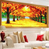 黄金满地十字绣线绣客厅遍地黄金满地线绣棉线自己手工大幅砖石绣