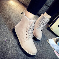 韩版加绒保暖马丁靴女短靴学生棉鞋平底靴雪地靴女靴子女鞋