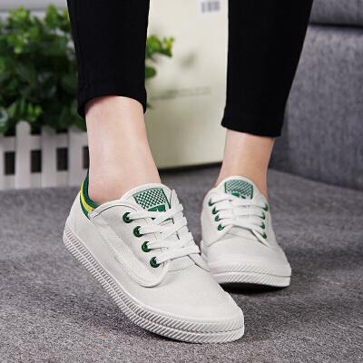 王菲同款韩版学生低帮白色帆布鞋运动球鞋平底休闲鞋板鞋小白鞋潮流女鞋2016春季新款明星鞋子运动尺码