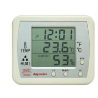 美德时电子温湿度计JR900 湿度计 时钟 闹钟 温度计 四合一