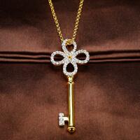 施华奥地利专柜正品代购2016款金色钥匙水晶锁骨项链1081992