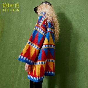 【每满200减100 上不封顶】妖精的口袋莫奈的夜秋装新款宽松圆领针织套头短裙连衣裙女