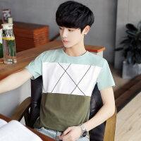 夏季男士圆领T恤韩版新款男装学生短袖t体恤小清新打底衫上衣