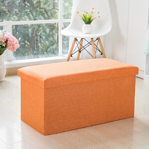 收纳凳 可折叠收纳柜时尚布艺储物凳长方形可坐收纳箱沙发凳午休凳换鞋凳