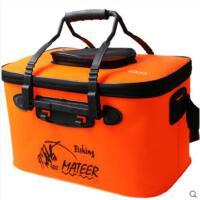 钓鱼箱子折叠水桶EVA钓鱼桶装鱼桶加厚活鱼桶有透气网钓鱼箱