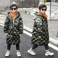 冬装儿童中长款棉袄加厚中大童韩版潮男童装棉衣外套