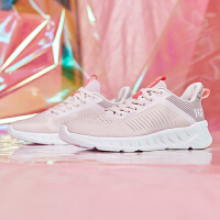 【过年不打烊】【满99减50】361女鞋运动鞋透气2019秋季粉色网面休闲鞋轻便鞋子软底跑步鞋女