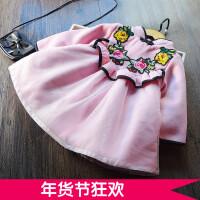 新年款 女童连衣裙加绒加厚 儿童欧根莎旗袍公主裙2017冬季新款