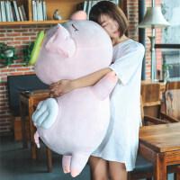 可爱天使猪公仔毛绒娃娃大号小猪猪玩偶抱枕玩具趴趴猪礼物女生日