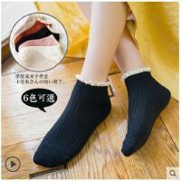 女袜子棉袜短袜浅口可爱花边韩国可爱薄款日系学院风蕾丝花边袜子