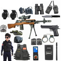 儿童玩具枪套装 特警察衣服玩具 男孩吃鸡抢 98k可发射 水弹10岁1