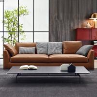 三人沙发纯色小客厅现代简约小户型双人直排科技布艺沙发意式极简