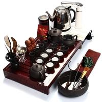 尚帝 宜兴紫砂茶具套装 实木茶盘加按键加水款 Z-4KWCBS2