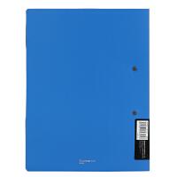 齐心A826 办公用品 孰料文件夹 A4文件夹 双弹簧夹耐用资料册板夹