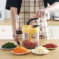 居家家 手动绞肉机多功能手摇碎肉机 厨房小型搅肉机碎菜器肉馅机