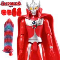 咸蛋超人软胶奥特曼玩具 泰罗宇宙超人发声披风儿童动漫玩具模型