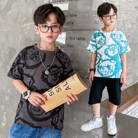 男童短袖t恤夏季薄款半袖上衣儿童大童男孩童装夏装体恤