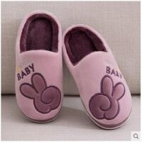 儿童棉拖鞋秋冬季保暖可爱卡通亲子家居室内保暖毛毛棉鞋加厚中童