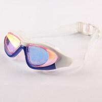 游泳镜男女士防水防雾高清大框可爱透明电镀潜水眼镜新品