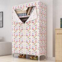 索尔诺衣柜简易布衣柜布艺收纳柜子组装简约现代经济型 单人衣橱
