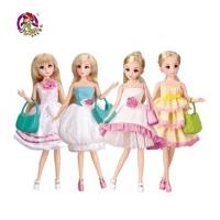乐吉儿芭比娃娃礼盒玩具 芭比公主系列时尚女孩可儿公主 女孩过家家 生日礼物儿童节六一礼物H30C单款*