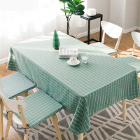 现代简约格子桌布布艺餐桌布台布茶几桌布