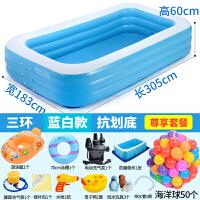 儿童游泳池婴儿充气加厚大号水上乐园宝宝家用家庭水池