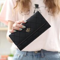 女士钱包女 长款皇冠 日韩版大容量多功能三折女式钱夹皮夹手拿包