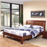 御品工匠 实木床 双人床1.5 1.8米 单人床 现代中式 卧室家具 高箱床 0114