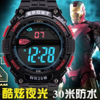 男士户外跑步手表夜光防水电子表 韩版时尚学生表潮运动表针扣式