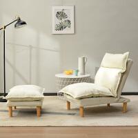 懒人沙发榻榻米阳台小户型个性创意整装折叠可爱休闲单人躺椅