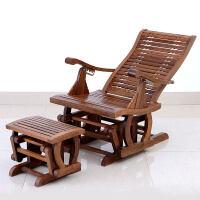 懒人躺椅阳台逍遥椅室内实木老人椅午睡椅木摇椅家用