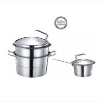 DESLON/德世朗日耳曼绅士多用锅套装DFS-TZ035B加厚不锈钢双层蒸锅+汤锅