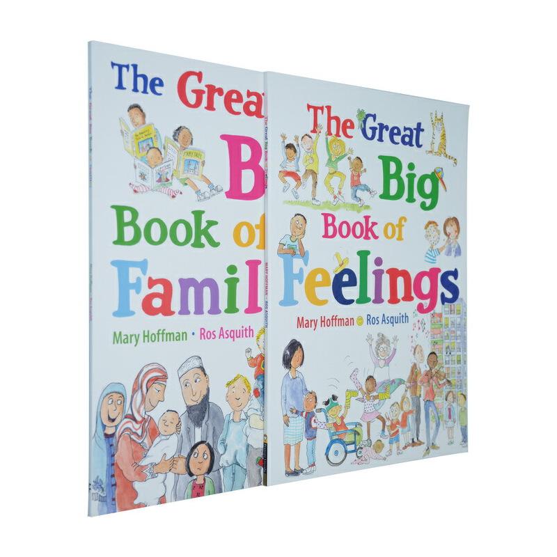 英文原版绘本3 6岁 The Great Big Book of 玛丽霍夫曼 2册 各种各样的情绪  家庭大书
