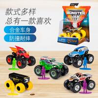 怪物卡车MONSTER JAM1:64儿童玩具车越野怪兽大脚车攀爬车惯性合金小汽车模型回力大轮车单个