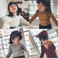 史豌豆女童加绒打底衫秋装长袖2017新款韩版加厚内搭宝宝保暖上