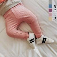 婴儿春款纯棉打底裤新生儿针织长裤女0-3岁贴身男幼小童外穿裤子