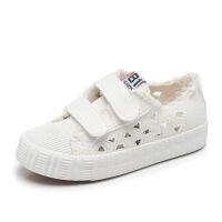 春夏季镂空儿童帆布鞋低帮女童板鞋透气男童单鞋软底