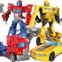 变形玩具金刚大黄蜂机器人 手动变形擎天柱金属合金汽车人儿童男孩节日收藏礼物变形金刚圣诞节礼物