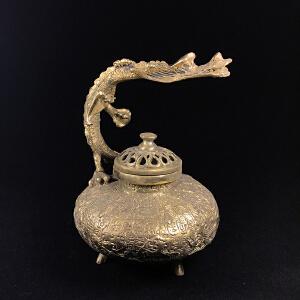 盘龙铜香炉