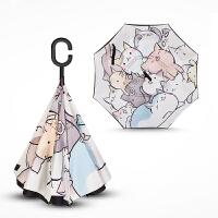 反向伞雨伞女晴雨两用全自动折叠伞男免持式创意森系复古小清新伞
