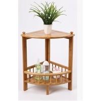 楠竹浴室转角置物架实木创意搁板隔板三角架层架落地角柜组合架
