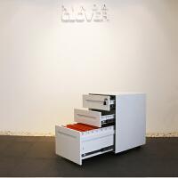 文件柜矮柜资料铁皮储物柜带锁不锈钢床头柜桌下活动柜移动柜子 0.8mm