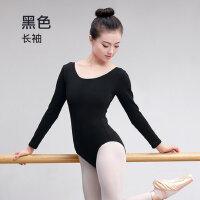 舞蹈练功服成人女黑色连体芭蕾舞形体服棉舍宾服体操服