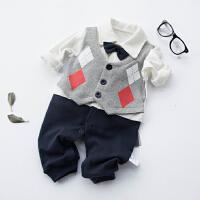 蓓莱乐婴儿连体衣服宝宝新生儿哈衣0岁3月服6睡衣0春装外出服5