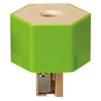 旗牌(Shachihata)ZKC-A3/H创意环保型 瓶盖式卷笔刀削笔器 六角 绿色当当自营